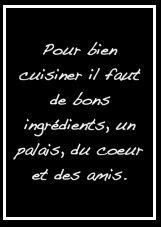 Tous les ingrédients pour bien cuisiner ! #citations #cuisine