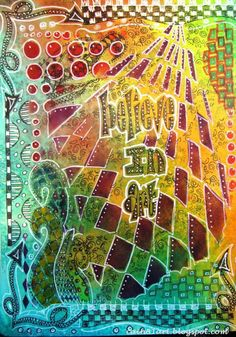 FRIENDS in ART: Believe in ART Journal Page...Awesome use of #dylusions stencils