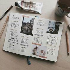 BULLET JOURNAL // Idéias de Layout - Semanas e Dias - Blog Serotonina