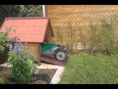 Robomow lawn mower starting procedure from kennel garage (doghouse)