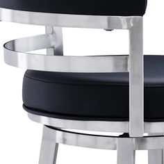 Orren Ellis Kenedy Swivel Bar & Counter Stool & Reviews | Wayfair Bar Counter, Counter Stools, Bar Stools, Marble Dining Table Set, Brushed Stainless Steel, Black Faux Leather, Hardwood, Contemporary, Modern