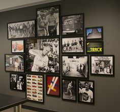 Photo Wall Collage by Taya Harden, via Behance