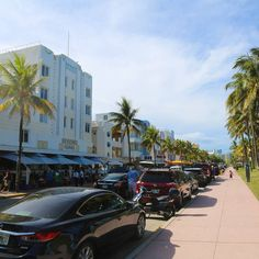 This is the famous Ocean Drive in South Beach / Miami Beach