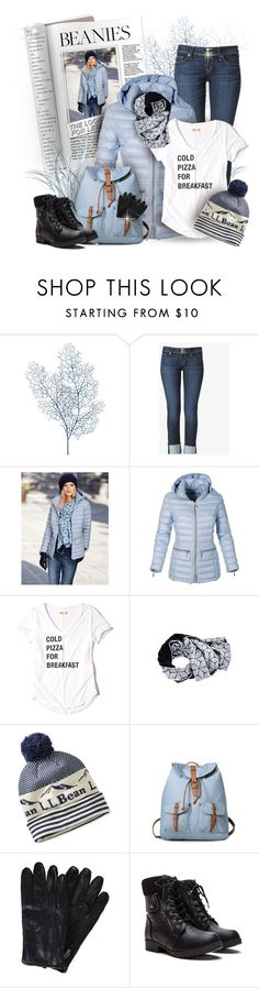 """#3-2017"" by maison-de-forgeron ❤ liked on Polyvore featuring Pier 1 Imports, Hudson Jeans, Hollister Co., L.L.Bean and pompombeanies"