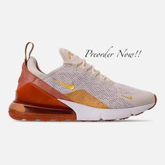 07f0cc49328f59 Swarovski Women s Nike Air Max 270 Cream   Gold Sneakers Blinged Out With  Authentic Clear Swarovski