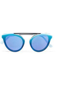 ae23cae2e884 Westward Leaning - Aviator-style acetate sunglasses