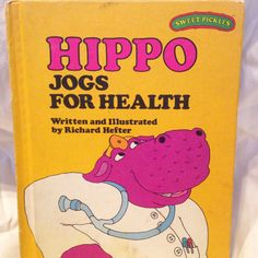 Sweet Pickles Hippo Jogs for Health Vintage by RetroVintageHeart