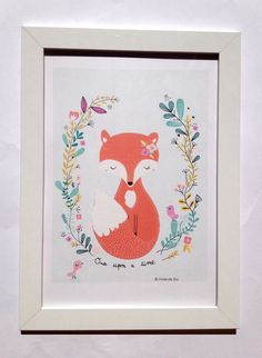 Oil paintings of foxes colored pencil drawings of for Illustration chambre bebe