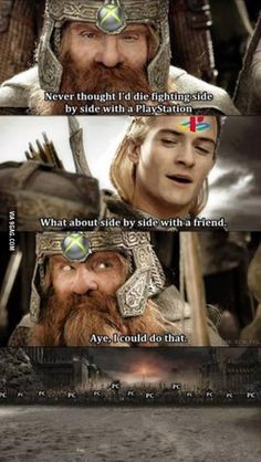 Funny Memes – [Never Thought I'd Die Fighting Side By Side…] Gamer Humor, Funny Gaming Memes, Video Game Logic, Video Games Funny, Funny Games, Dankest Memes, Jokes, Rasengan Vs Chidori, Funny Comics