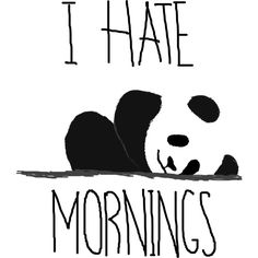 I hate mornings is a T Shirt designed by HappyHellodesign to illustrate your life and is available at Design By Humans