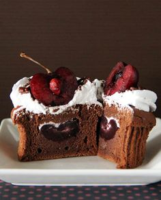 Black Forest Cupcakes by Rasa Malaysia