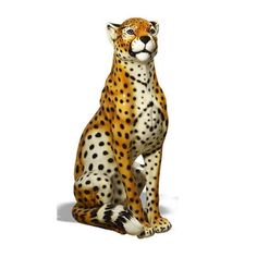 Made by Intrada Italy. Intrada Italy Cheetah Statue Part: Currently out of stock. Pre-order for delivery early Item: Intrada Italy Cheetah Intrada has been sourcing beautiful Italian po Baby Tigers, Tiger Cubs, Tiger Tiger, Bengal Tiger, Unique Tile, Italian Pottery, Ceramic Animals, Cheetahs, Rainbow Art