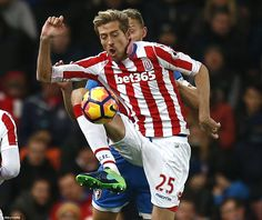 Peter Crouch made a rare Premier League appearance for Stoke as he came on in the second half for the ineffective Bony