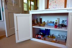 idea, china cabinets, dollhous, stuff, old cabinets, doll houses, diy, kitchen cabinets, kids toys