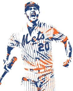 Pete Alonso New York Mets Pixel Art 5 Art Print by Joe Hamilton Mets Baseball, Baseball Posters, Baseball Boys, Sports Posters, Hockey Girls, Hockey Mom, Ice Hockey, Ny Mets, New York Mets