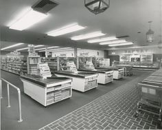 1966: Inside view of the brand new Town & Country location