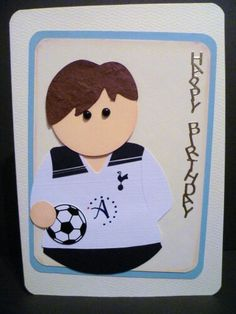 Football themed greeting card for the football fan in your house
