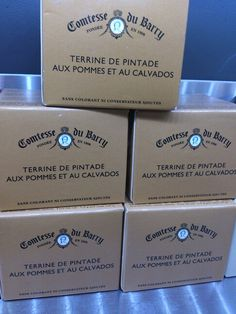 Terrine packaging, french feel Logo Food, Barware, Logo Design, Packaging, French, Feelings, Corporate Design, Wrapping, French People