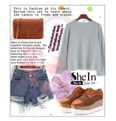 """""""SheIn 9/XI"""" by saaraa-21 ❤ liked on Polyvore featuring York Wallcoverings, Sheinside, shop, polyvorefashion and shein"""
