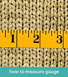 How to measure gauge