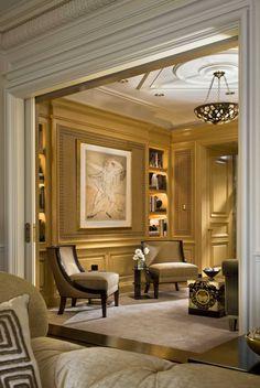 Library off the living room Home Room Design, Home Interior Design, Interior Decorating, House Design, European Home Decor, Dream House Exterior, Traditional Decor, New Room, Luxury Living
