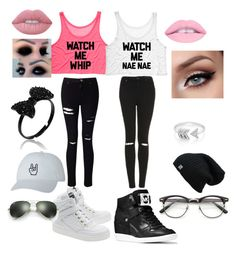 """""""best friends 2"""" by trinitylewis103 ❤ liked on Polyvore featuring Miss Selfridge, Topshop, Moschino, MICHAEL Michael Kors, Lime Crime, EF Collection and Ray-Ban"""