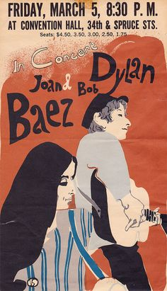 Wouldn't it be nice if we saw Bob Dylan in concert. Bob Dylan and Joan Baez, 1965 US Tour Poster Rock Posters, Band Posters, Music Posters, Joan Baez Bob Dylan, Vintage Concert Posters, Vintage Posters, Schmidt, Pin Ups Vintage, Vintage Bob