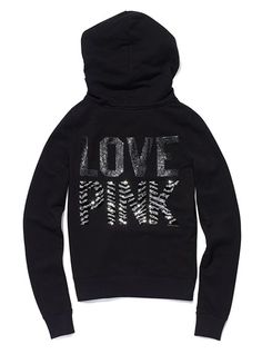 Victoria's Secret Pink - Bling Signature Zip Hoodie $79.50
