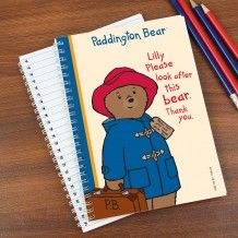 Personalised Paddington Bear 'Please Look After Me' Notebook Personalized Christmas Gifts, Christmas Gifts For Kids, Gifts For Boys, Special Symbols, Paddington Bear, Back To School Gifts, Personalized Stationery, Baby Birthday, Boy Or Girl
