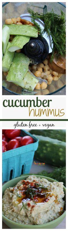 Cucumber Hummus - @Vegetarianmamma.com #hummus #cucumber #garden #glutenfree #nutfree #vegan