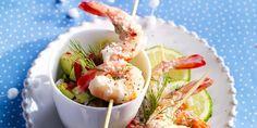 Crevettes au punch coco-gingembre