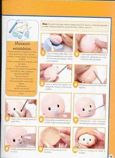 ARTESANATOS PASSO A PASSO: Diário do bebe decorado em biscuit