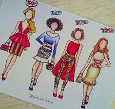 Candy girls - Which one is your favorite - Kit Kat, Oreo, M&M's or Twix? Try to comment letter by letter ❤ Cute Disney Drawings, Cute Easy Drawings, Cool Art Drawings, Fashion Design Drawings, Fashion Sketches, Bild Girls, Candy Drawing, Chibi Kawaii, Social Media Art