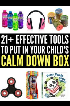 Looking for ideas to put into your child's calm down kit? Perfect for kids with anger management challenges and those with autism, anxiety, ADHD, and other special needs, this collection of tools and ideas will help children cope when big emotions become too much. Keep a kit at home, in the classroom, and in your car so you're always prepared when your child becomes overwhelmed, and remember: while it may be difficult to learn how to deal with autism, you WILL find your way.