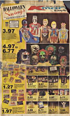 vintage halloween costumes from Kmart ad