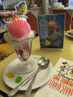 Ariel's Delight Sundae at the Disney Soda Fountain and Studio Store for the engagement of THE LITTLE MERMAID in 3D at the El Capitan Theatre