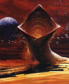 John Berkey's stunning European Dune poster David Lynch, Dune Der Wüstenplanet, Dune Book, Film Science Fiction, Dune Art, Jodorowsky's Dune, Dune Frank Herbert, Arte Tribal, Famous Artwork