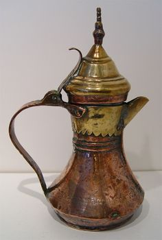 Antique Middle Eastern Persian Copper Dallah Coffee Pot