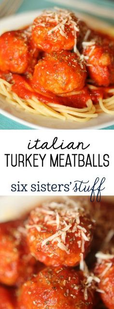 These Italian Turkey Meatballs from SixSistersStuff.com are so delicious!