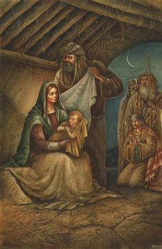 The Holy Family Nativity ~ artist Val Bochkov