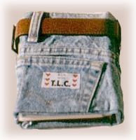 Blue Jean Journal / Denim Photo Album Cover fastened with a belt -- Teens would like this!  (No sewing, actually...)