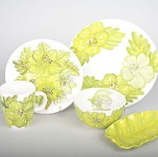 Laurie Gates Tropical Palm 20 Piece Dinnerware Set