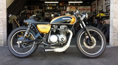 gold and black CB500