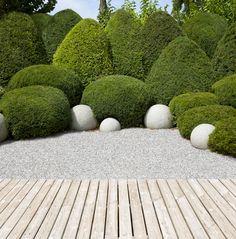 Ideen Gartengestaltung Modern Pflegeleichter Garten Ohne Rasen Zierkies Deko Symmetrischer Gartenweg  | Garten | Pinterest | Pflegeleichter Garten, Rasen Und ...