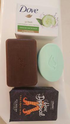Comparison of a Posh Chunk bar to Dove soap