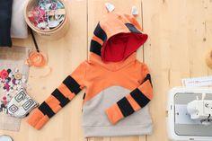 Kids' hooded tiger sweatshirt. Halloween costume. by bymamma190