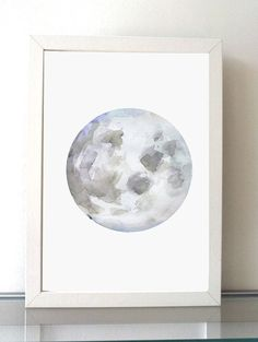 ➽ Art print of my Moon painting SIZE OF PAPER: Please choose when you order ➽ ABOUT THE FINE ART PRINTS (A4 and smaller sizes) HIGH RESOLUTION