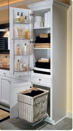 Bathroom Cabinet With Built In Laundry Hamper. Hidden Laundry Hamper Every Closet Should Have One For The Home Pinterest Hidden Laundry Laundry Hamper And Hamper