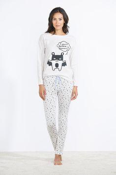 women'secret | Halloween | Cotton bat-print pyjama