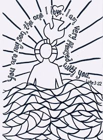 Preschool bible lesson on prayer jesus baptism craft ideas plans for january catholic crafts kids coloring page Jesus Crafts, Catholic Crafts, Catholic Kids, Church Crafts, Bible Crafts, Kids Church, Vbs Crafts, Church Ideas, Jesus Baptism Craft